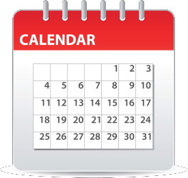 calendar icon program schedule
