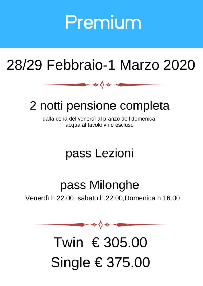 BergamoFestango - pacchetto Premium