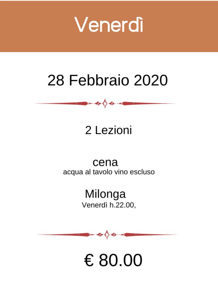 BergamoFestango - pacchetto Venerdi